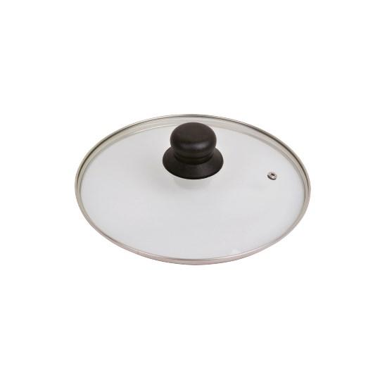 Image of Glasdeksel HHCP met RVS ring 28cm 8716421400733