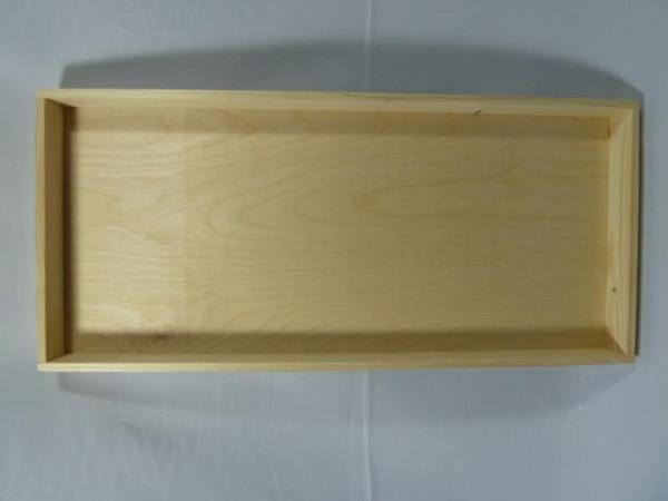 Dienblad hout blanco 55x25x4 cm