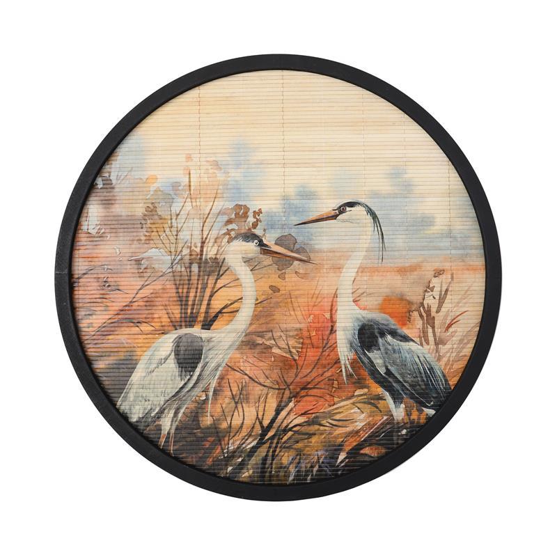 Wanddecoratie Bamboe vogels 60cm