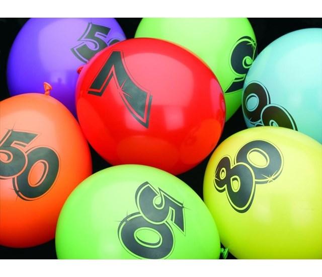 Ballonnen 10 jaar pak a 6 stuks