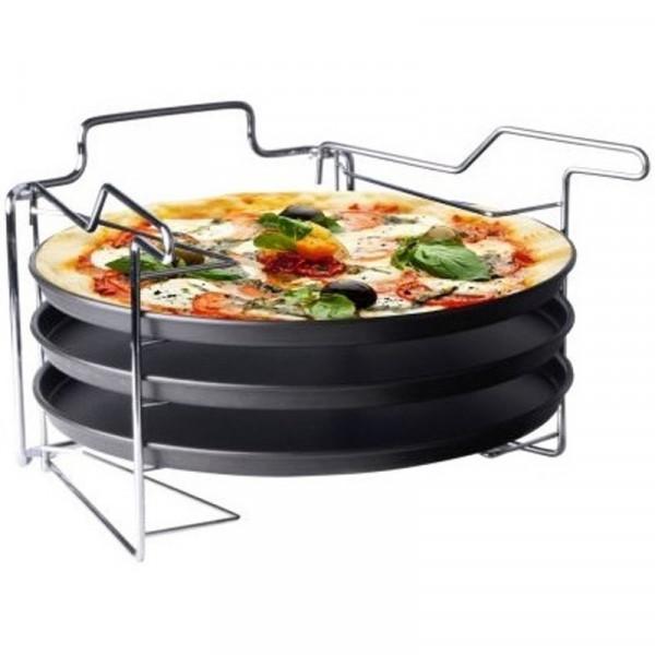 Pizzabakset 3dlg+standaard