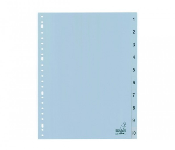 Tabbladen A4 23R cijfers 1-10