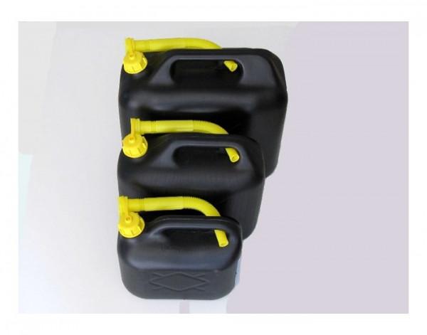 Jerrycan 20 ltr zwart benzinebestendig