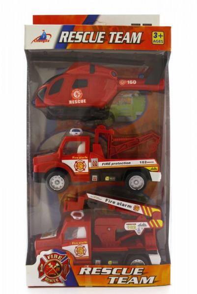 Brandweervoertuigen 3 op blister