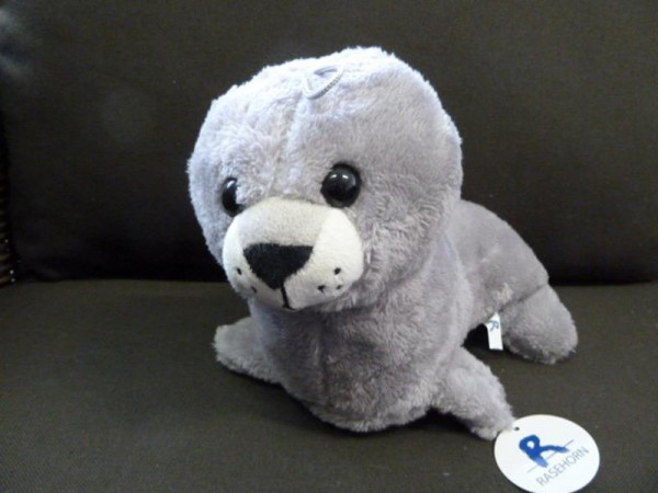 Zeehond grijs H20cm L25cm