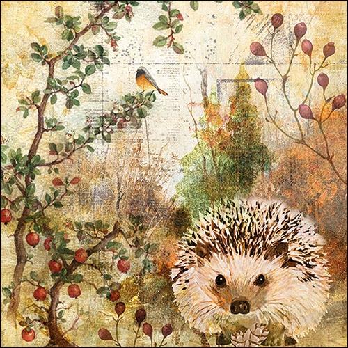 Image of Ambiente Servet 33cm Autumn Hedgehog 8712159164886