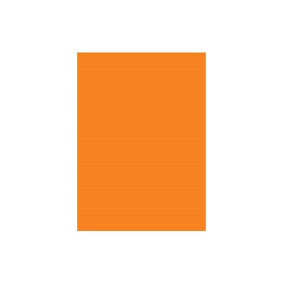 Prijskaarten 21x29 cm fluor oranje pak
