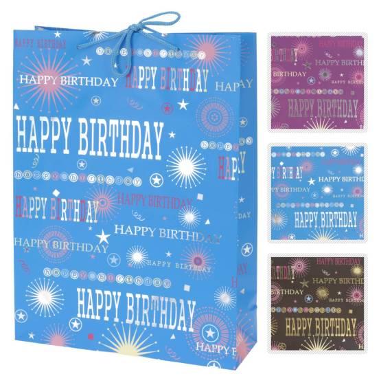 Geschenktas birthday pak a 12 stuks