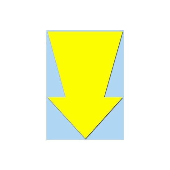 Pijlen 44 cm Fluor geel pak a 10