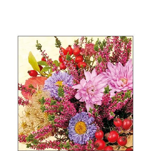 Image of Ambiente Servet 25cm Autumn Flowers 8712159165166