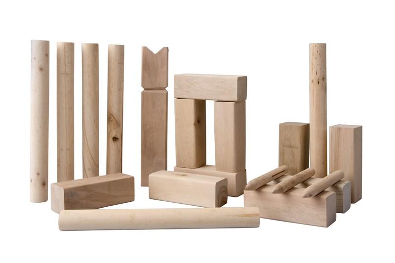 Kubb spel 21-delig 30cm hout