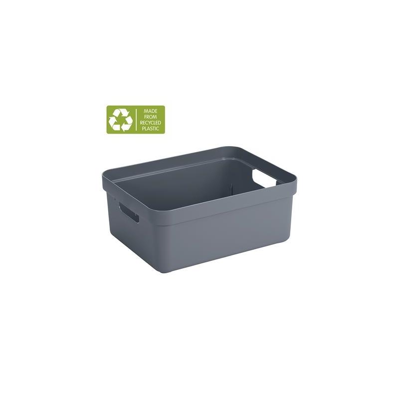 Sigma Home Opbergbox 24L blauwgrijs