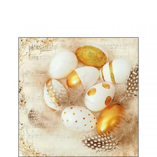 Ambiente Servet 25cm Golden Eggs