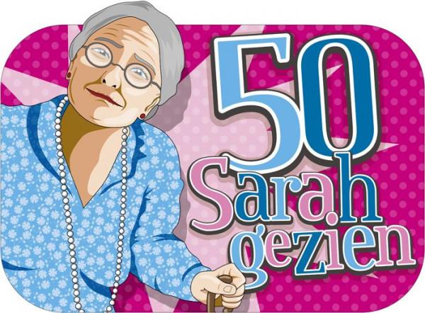 Sarah kartonnen decoratie dubbelzijdig