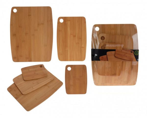 Snijplankenset 3 delig bamboe