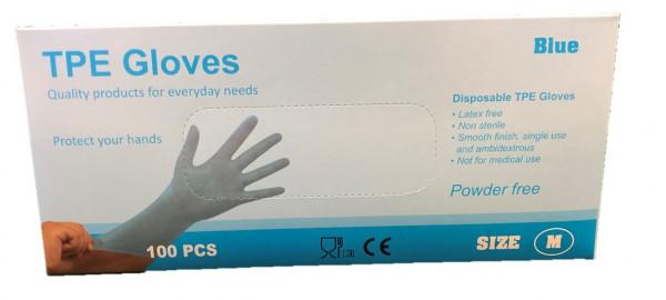 TPE Handschoenen 100 stuks maat L blauw