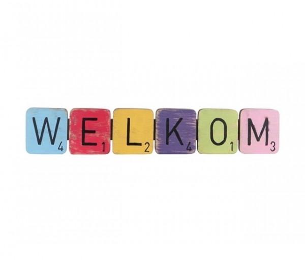 "Joy hanger letters ""Welkom""47x 8 cm"