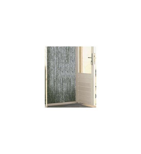 Kattenstaartgordijn 56x185 grijs/wit