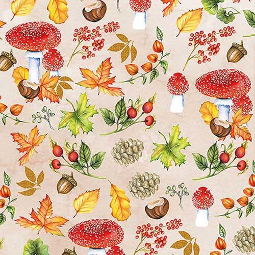 Image of Ambiente Servet 25cm Autumn Pattern 8712159157369