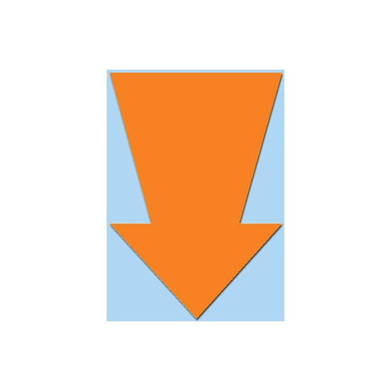 Pijlen 22 cm Fluor oranje pak a 50