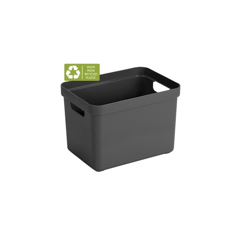 Sigma Home Opbergbox 18L antraciet