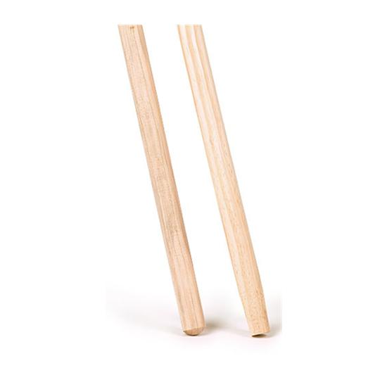 Image of Bezemsteel hout ca. 120cmx24mm gepunt